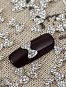 10st bling lysande kristall båge rhinestone Bowknot nail art legering smycken glänsande manikyr smycken