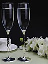 Personalized Toasting Flutes The Bride and Groom(Set of 2)