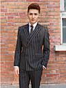 negru&dungi albe subțire tuxedo se potrivesc în poliester