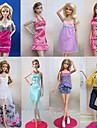 Prinsessa Dräkter/Kostymer För Barbie Doll Lila / Vit Spets Klänningar / Kjolar / Byxor / Överdelar För Flicka doll Toy