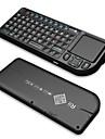 keyborad wireless rii mini v3 2.4g con / touchpad / puntatore laser / retroilluminazione - nero
