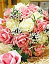 "Wedding Flowers Round Roses Bouquets Wedding As Picture Polyester 11.8""(Approx.30cm)"