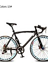 Velo Route Cyclisme 7 Vitesse 26 pouces/700CC 60mm Unisexe Adulte Femme Aux femmes SHIMANO TX30 Frein a Double Disque OrdinaireMono