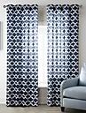 neoclassiques un panneau rideaux a panneaux en polyester geometrique bleu salon rideaux