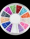 600PCS 12 Color Half Pearls  Nail Art Decorations