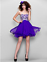 TS Couture Prom Dress - Sparkle & Shine A-line Sweetheart Short / Mini Chiffon with Beading