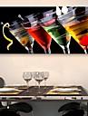 e-Home® sträckt duk konst vinglas dekoration målning