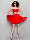 Linia -A In Formă de Inimă Mini / Scurt Șifon Venire Acasă Bal Rochie cu Mărgele Cruce de TS Couture®