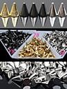 30pc guld och silver och svkonst legering punk koniska nagel konst dekoration