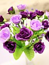 Une succursale Soie Plastique Roses Fleur de Table Fleurs artificielles #(20*14*14 cm(7.9*5.5*5.5 in))