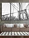 e-Home® sträckta canvas konst stad byggnad dekoration målning uppsättning av 3
