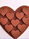 bakformen Hjärta För Tårtor för choklad För Kakor Silikon Miljövänlig Teflonbehandlad Hög kvalitet