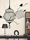 Wall Stickers väggdekaler, fågelbur pvc väggdekorationer