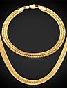 nouvelle fantaisie bracelet collier de chaine de ble mis en plaque or 18k chunky bijoux pour hommes avec timbre 18k 6mm de haute qualite 55cm