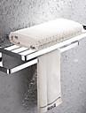 HPB®,Barre porte-serviette / Etagere de Salle de Bain Chrome Fixation Murale 67*27*20cm(26.8*10.8*8inch) Laiton Contemporain