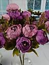 """Deux faisceaux de peche violet pivoine artificielle bouquet 11,8 """"pour la decoration d\'interieur"""
