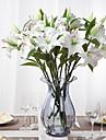 Novelty Fake PU Resin Lily Flowers  1piece/set