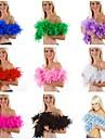 Mas Accesorios Festival/Celebracion Traje de Halloween Un Color Mas Accesorios Carnaval Mujer Pluma
