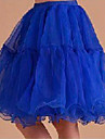 Slips 9 Color Crystal Yarn Knee Length Wedding Prom Crinoline Petticoat Slip Underskirt