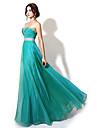Formal Evening Dress Plus Size / Petite A-line Sweetheart Floor-length Chiffon with Beading