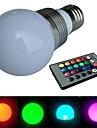 E26/E27 - 3 Globlampor (RGB
