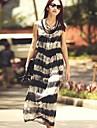 Women\'s Fashion Stripes Bohemian Sun Dress