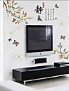avtagbar kinesisk stil Peach Blossom formad vägg klistermärke
