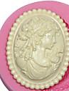 camee femme moule en silicone dame de silicone moule pour Fondant pate fimo de gomme& chocolat sm-473