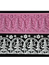 fyra c prägling spetsar matta julgran kaka konstruktion mögel färgen rosa