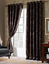 Country Curtains® One Panel Coffee Floral Chenille Blackout Curtain