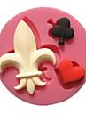 poker svart plommon rött hjärta joker formar fondant tårta formar dekoration choklad mögel för köket bakar för socker