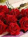 """19,7 """"ensemble de l une des roses rouges romantiques flanelle fleurs"""
