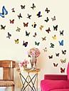 miljö avtagbar färgglad fjäril väggklistermärke