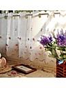 "en panel 155cmwx60cml61 ""wx24"" l vitt blom botaniska linne köksgardinen"