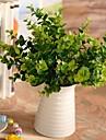 """13.7 """"l uppsättning av ett natur 7 pinnar gröna eukalyptus blad plastväxter"""
