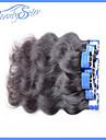 Mänskligt hår - Svart - HÅRFÖRLÄNGNING - till Dam - Kroppsvågor
