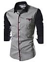 Chemises informelles (Coton melange) Informel Col chemise a Manches longues