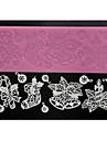 quatre c dentelle gateau de mat outils de gateau dentelle decoration pour sugarcraft, silicone mat fondant outils de gateau couleur rose