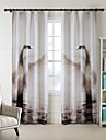 One Panel  Home Fashion Modern Polyester Elegant Swan Print Curtain