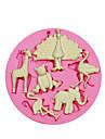 plusieurs animalsilicone moule moule de decoration de gateau de silicone mignon pour fondantes artisanat de bonbons bijoux pmc argile de resine sm-059