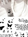 Tatueringsklistermärken - Non Toxic/Ländrygg/Waterproof - Djurserier - till Spädbarn/Barn/Dam/Herr/Vuxen/Tonåring - Grå/Svart - Papper - 1 pc - styck