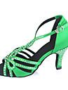personalizabile sandale latine femei toc personalizabil pantofi de dans satin stras (mai multe culori)