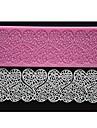 fyra c präglade silikonmatta hjärta spets mögel fondant tårta dekor pad färgen rosa