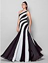 TS Couture® Formal Evening Dress Plus Size / Petite Sheath / Column One Shoulder Floor-length Chiffon with Side Draping