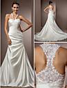 Lanting Bride® Trumpet / Mermaid Petite / Plus Sizes Wedding Dress - Chic & Modern / Elegant & Luxurious Vintage Inspired Chapel Train