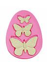 3 trous moule moule a cake en silicone papillon decoration de silicone pour fondantes artisanat de bonbons bijoux PMC argile de resine