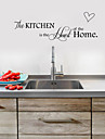 Wall Stickers Wall Decals,   English  Words & Quotes PVC Kitchen Stickers