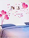 avtagbar romantiska rosa älskande hjärta sovrum / vardagsrum väggklistermärke