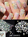 5000pcs glitter 2mm ab strass acrylique nail art decorations