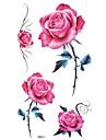 5 Tatouages Autocollants Series de fleur Non Toxique ImpermeableBebe Enfant Homme Femelle Femme Adulte Male Adolescent Tatouage Temporaire